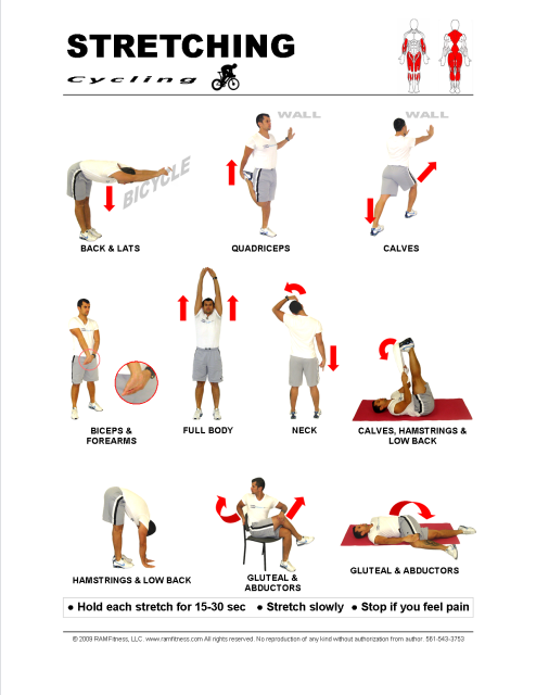Printable Stretching Guides Royalty Free - ramfitness