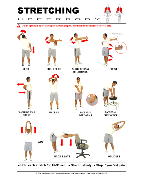 Printable Stretching Guides Royalty Free Ramfitness